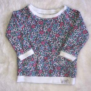 Carter's floral sweatshirt size 6 months